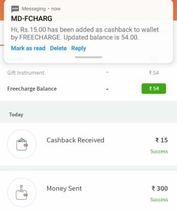 FreeCharge Scan and Pay Offer