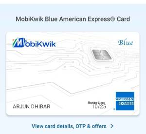 Mobikwik Blue American Express Card Offers