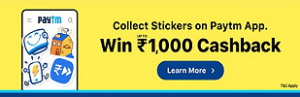 paytm stickers offer loot