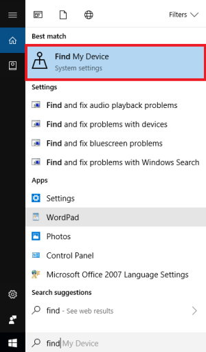 Enable Tracking in Windows