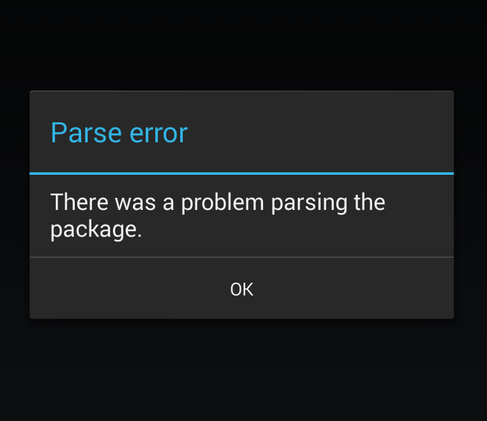 http://trickybell.com/fix-parse-error-there-is-a-problem-parsing-the-package/