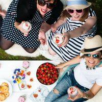 [von und mit: hanni und leena] erdbeer picknick im garten