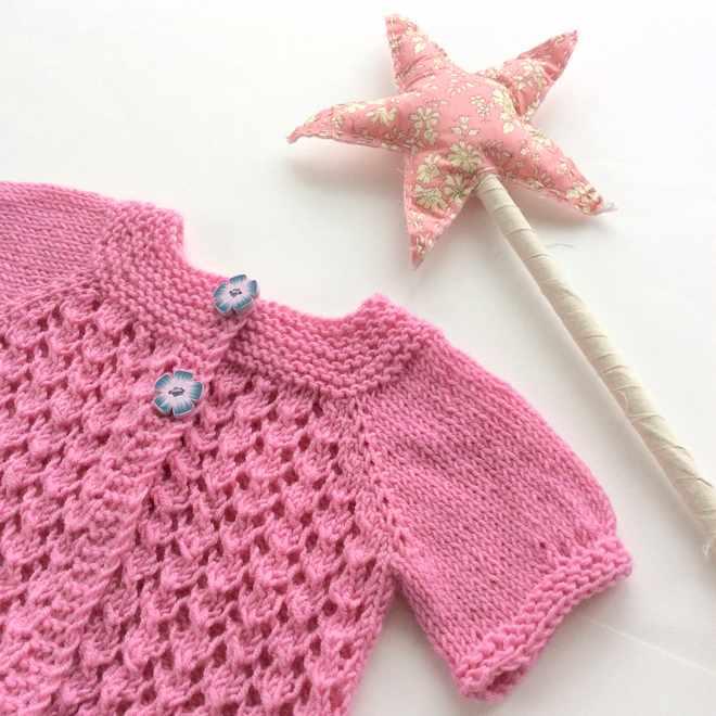 cardigan à tricoter pour bébé