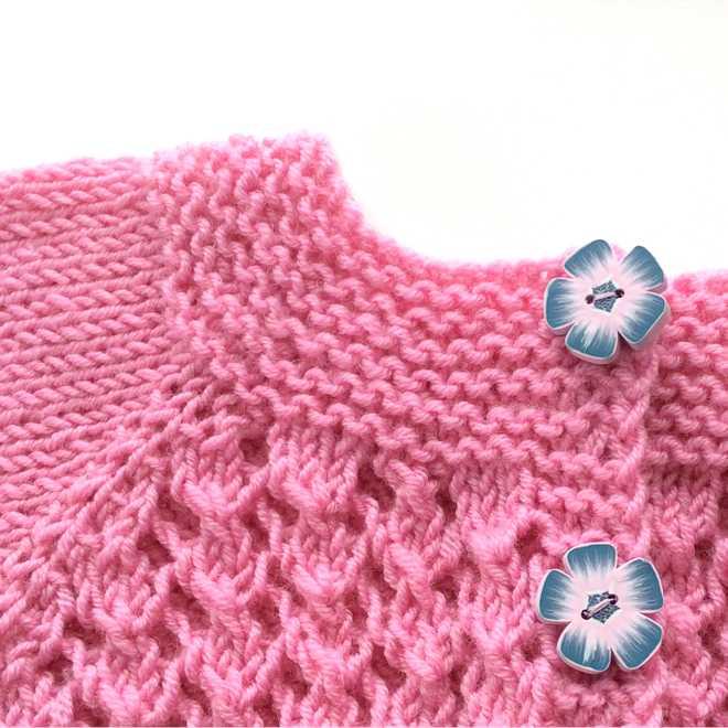 jolis boutons cardigan rose