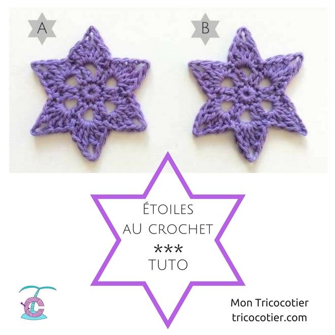☆ Jolies étoiles au crochet – Tuto ☆
