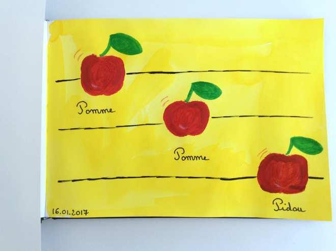 Pomme Pomme Pidou – Challenge Art journal
