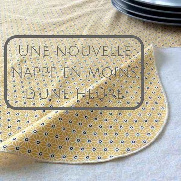 Coudre une nappe ensoleillée en moins d'une heure