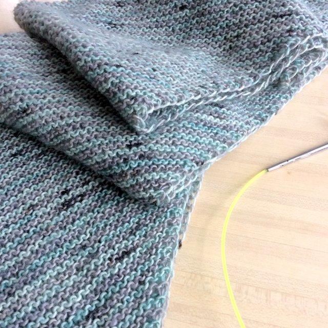 écharpe à rayures tuto gratuit free pattern patron tricot