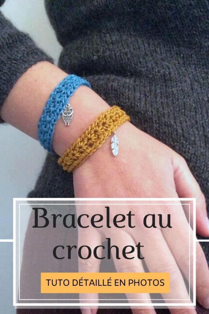 Tutoriel bracelet au crochet point étoile