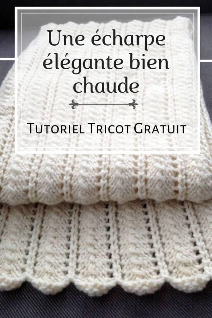 comment tricoter une écharpe au tricot pour femme - tutoriel gratuit