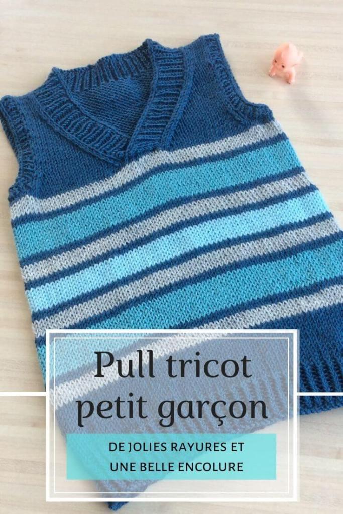 pull tricot bébé garçon à rayures