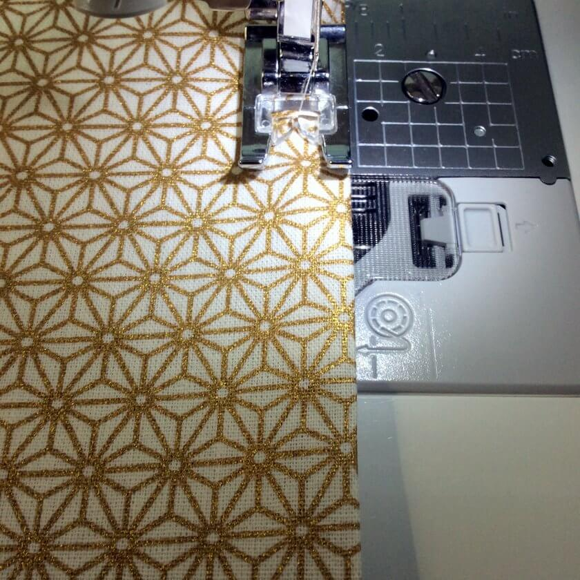 Tuto couture débutant Furoshiki machine à coudre