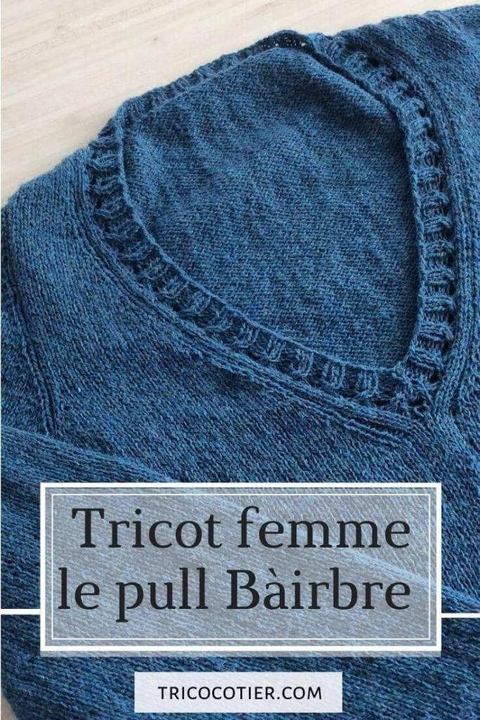 Patron de tricot femme Isabell Kraemer Pull Báirbre