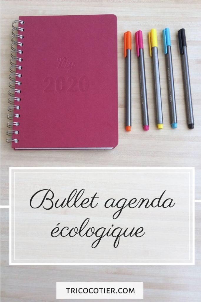 bullet agenda 2020 outil d'organisation