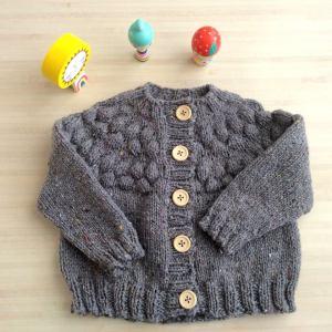 little tiyuan gilet à tricoter