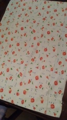 A pillowcase.. wait and see what it becomes!