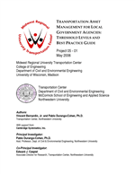 Cover of Transportation Asset Management for Local Government Agencies: Threshold Levels and Best Practice Guide
