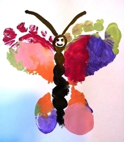 бабочка из отпечатков