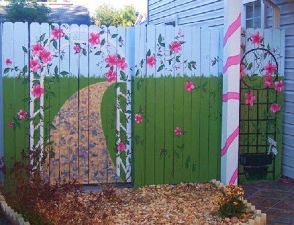 рисунки на заборе фото идеи