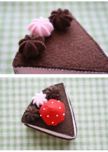 торт из фетра 6