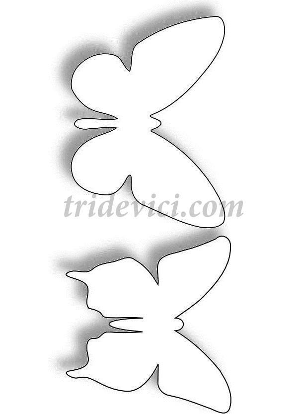 шаблон-бабочек
