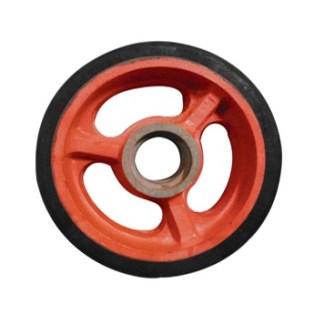 Rubber Castor Wheel Velg Besi (Heavy Duty)