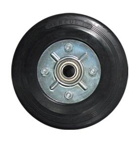 Rubber Castor Wheel Dop Plat Besi (Light Duty)