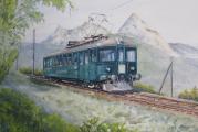 <h5>Ein schönes Gemälde von Franz Stucki (www.stuckiart.ch/)</h5><p>Der Triebwagen 5 vor dem Mythen gemalt von Franz Stucki </p>