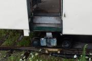<h5>Aufgesetzt</h5><p>Der Wagenkasten steht auf den Werkstattrollis</p>