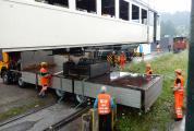 <h5>Ausbau Trafo</h5><p>Der Trafo konnte ausgebaut werden und steht auf dem Lastwagen bereit zum Transport in die Revision</p>