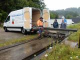 <h5>Träger zum Anheben</h5><p>Die Träger an denen der Wagenkasten angehoben wird treffen in Wald ein</p>