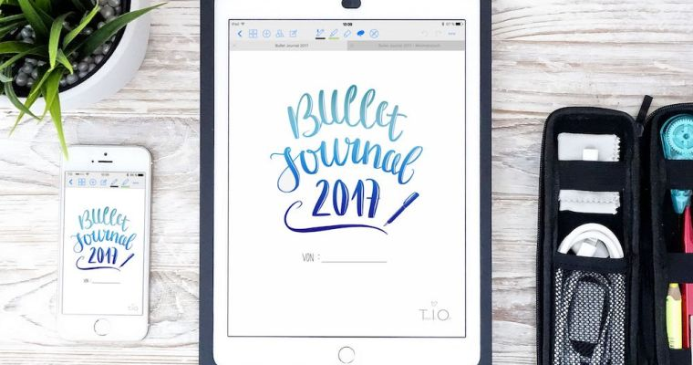 Bullet journal on the iPad with GoodNotes [Tech]