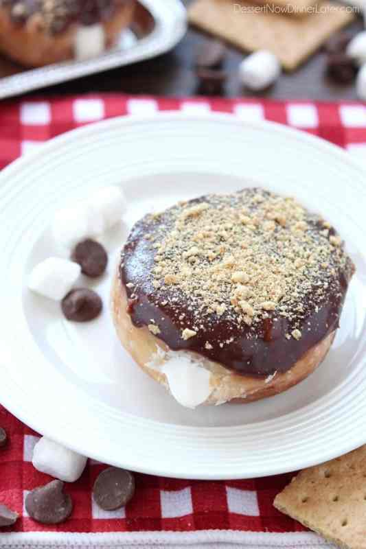 S'mores Donuts // Dessert Now Dinner Later