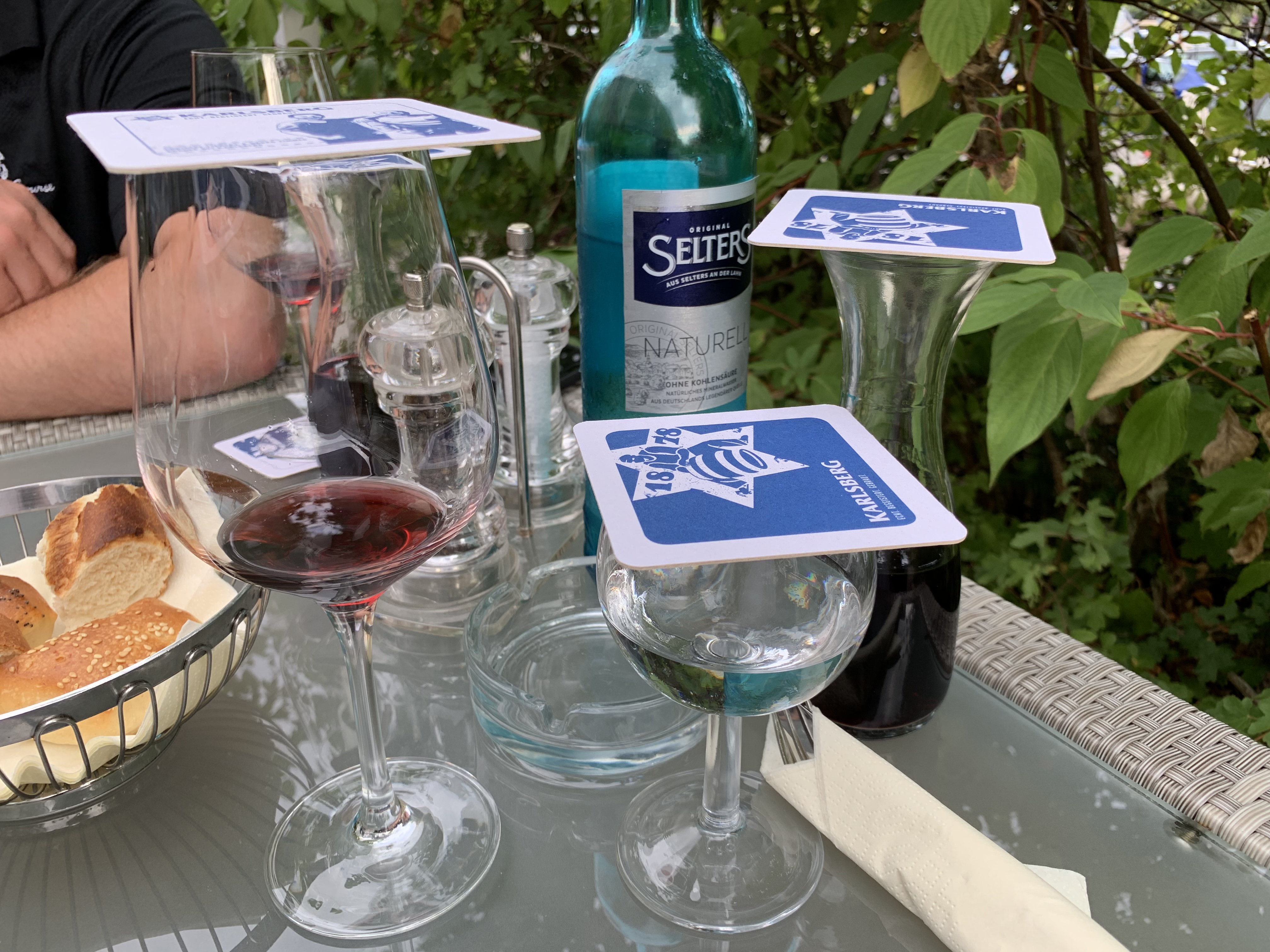 Coasters are used for the top of your glass to keep out bees and bugs