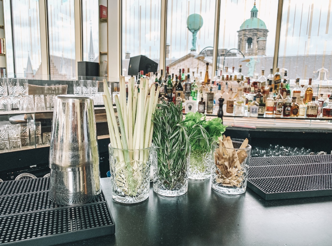 Things to do in Amsterdam - drinks on the W rooftop