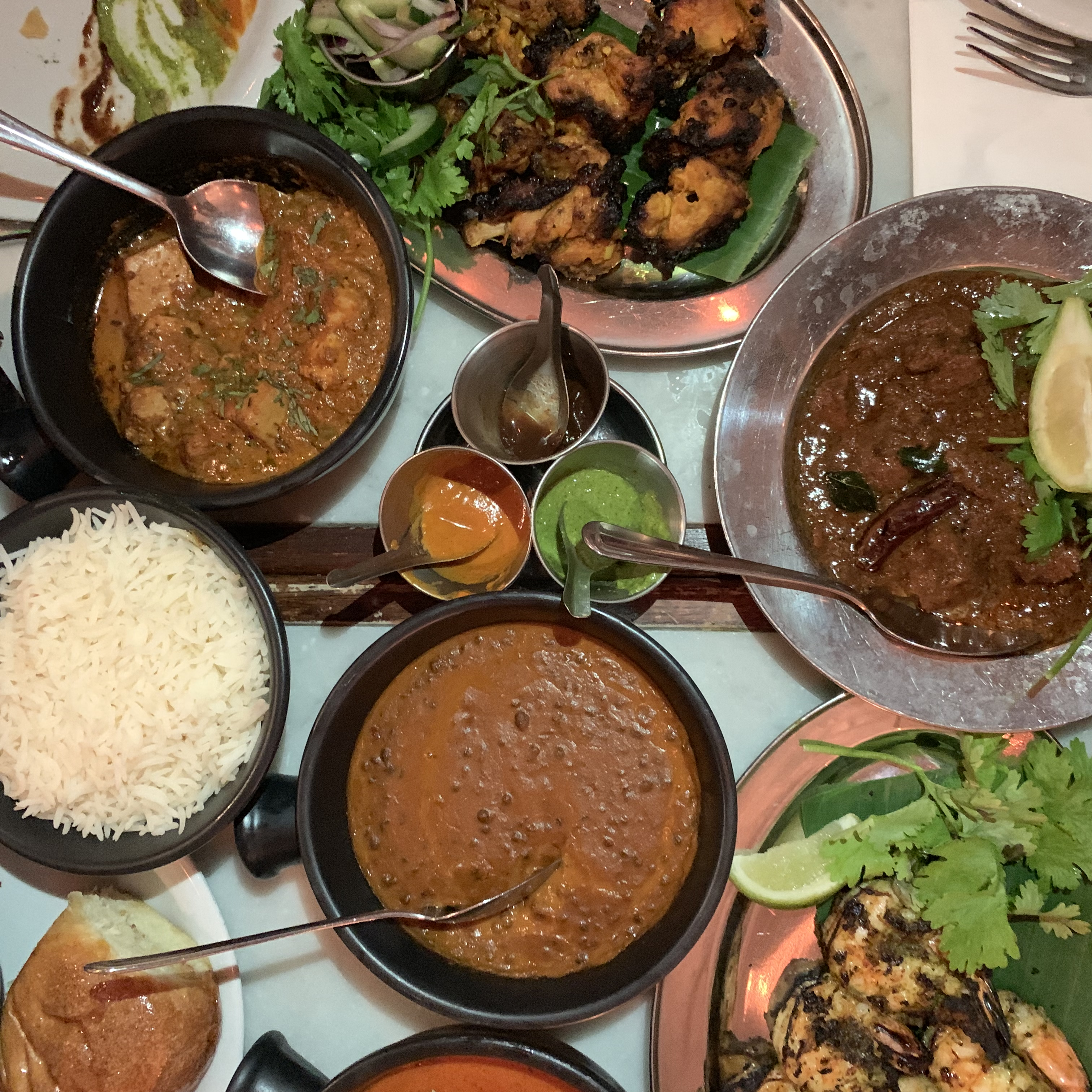 Indian food at Dishoom in Covent Garden, London
