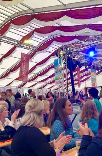 Wine hall - main tent at the Bad Durkheim wine festival