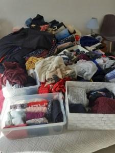 pile vêtements konmari