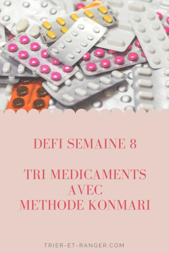 tri médicaments konmari