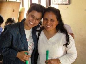 Nirmala Gyawali on Left, Sita Gyawali (sister) on Right in Nepal