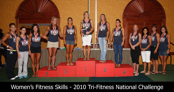 Women's Fitness Skills Winners – 2010 Tri-Fitness National Challenge
