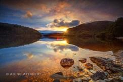 Lake Pedder hidden sun, Tasmania. 7 Frames manually blended to achieve correct exposures