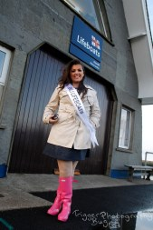 Kate Dublin Rose of Tralee shoot with the RNLI