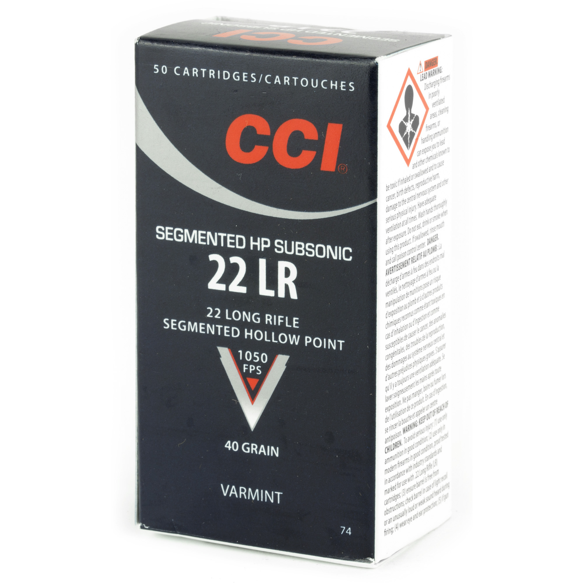 CCI 22LR Subsonic Segmented Hollow Point 40gr 50 Round Box - Trigger Depot