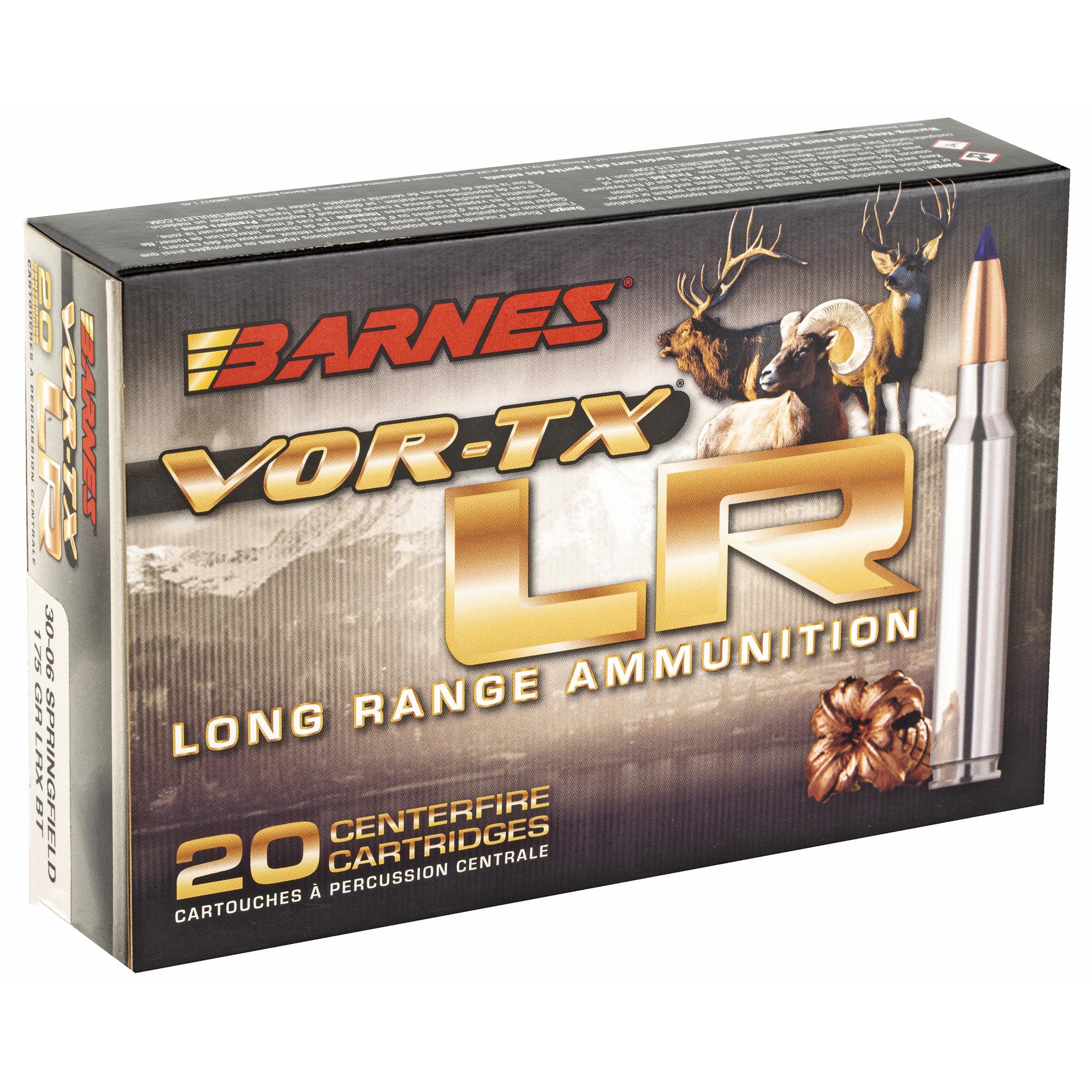 Barnes VOR-TX LR .30-06 175gr 20 Round Box - Trigger Depot