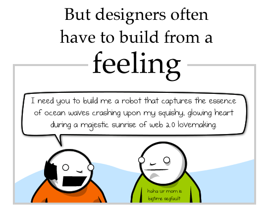 Building from a feeling