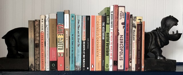 Books by non-white authors.