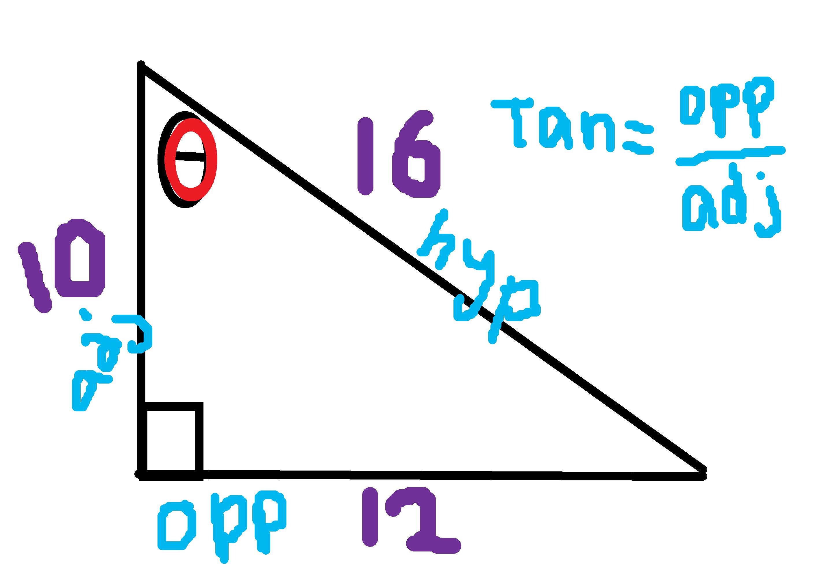 How To Write Tangent Ratios