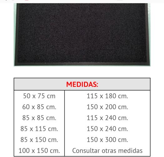 Alfombra téxtil secante