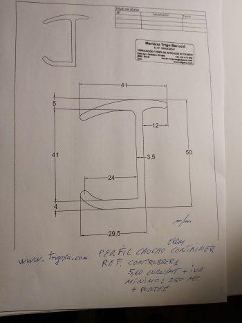 perfil de goma para container